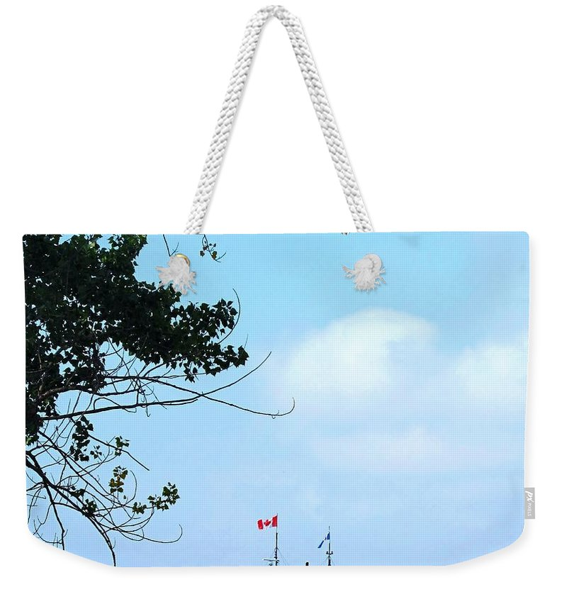 Ferry Weekender Tote Bag featuring the photograph Toronto Island Ferry by Ian MacDonald
