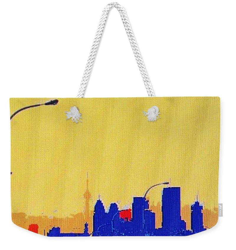 Toronto Weekender Tote Bag featuring the photograph Toronto Lemon Skyline by Ian MacDonald