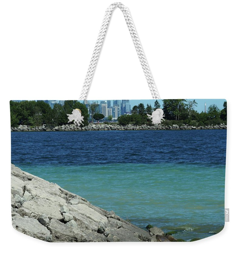 Toronto Weekender Tote Bag featuring the photograph Toronto Shoreline by BiR Fotos