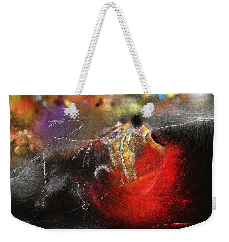 Animals Weekender Tote Bag featuring the painting Toroscape 18 by Miki De Goodaboom