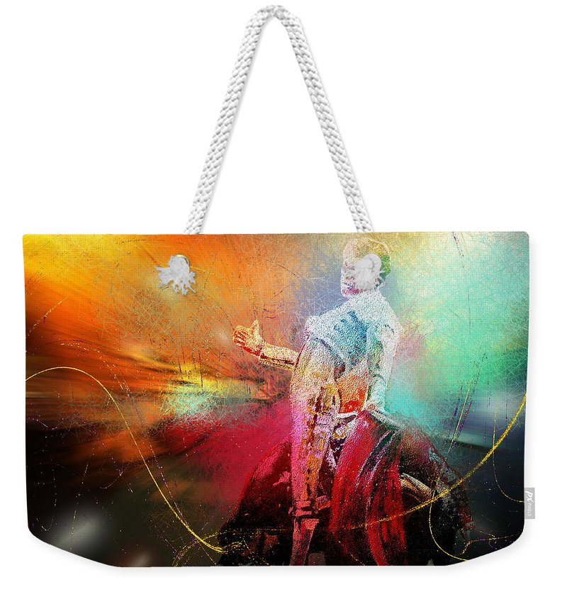Animals Weekender Tote Bag featuring the painting Toroscape 25 by Miki De Goodaboom
