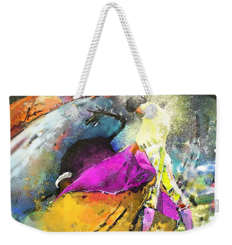Animals Weekender Tote Bag featuring the painting Toroscape 28 by Miki De Goodaboom