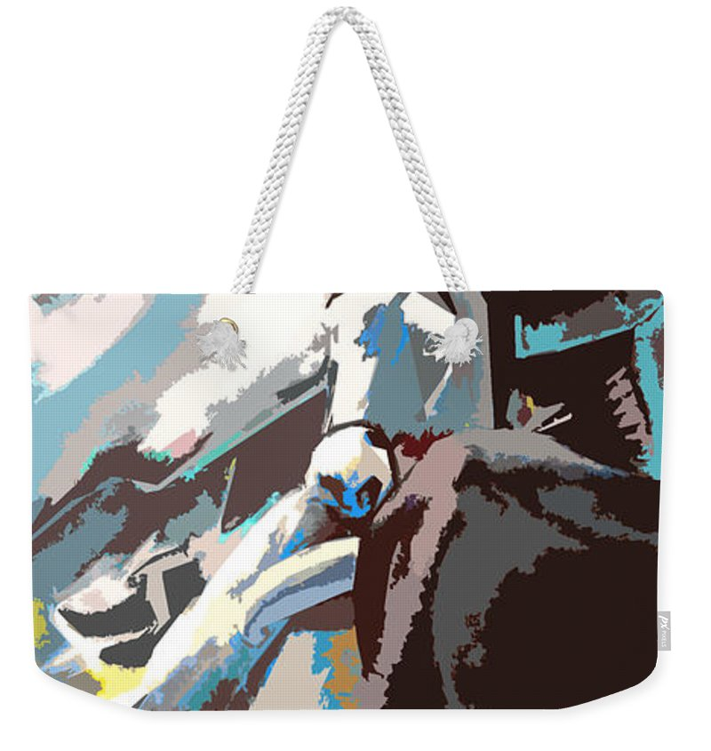 Animals Weekender Tote Bag featuring the painting Toroscape 31 by Miki De Goodaboom