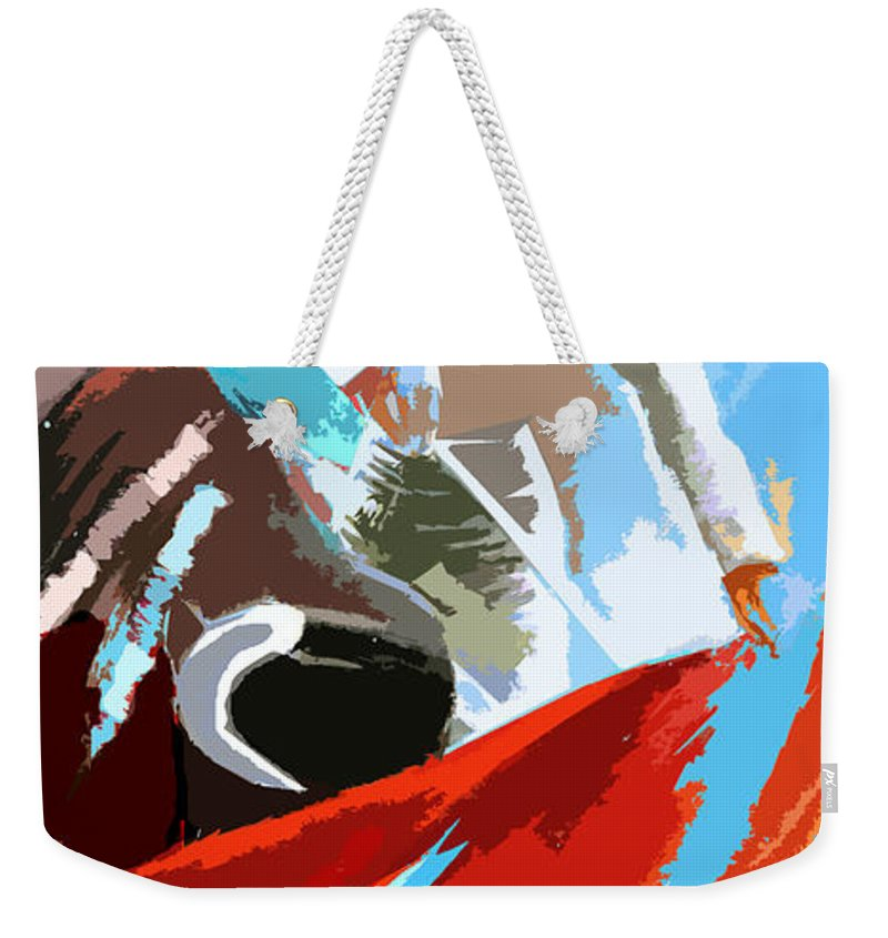 Animals Weekender Tote Bag featuring the painting Toroscape 32 by Miki De Goodaboom