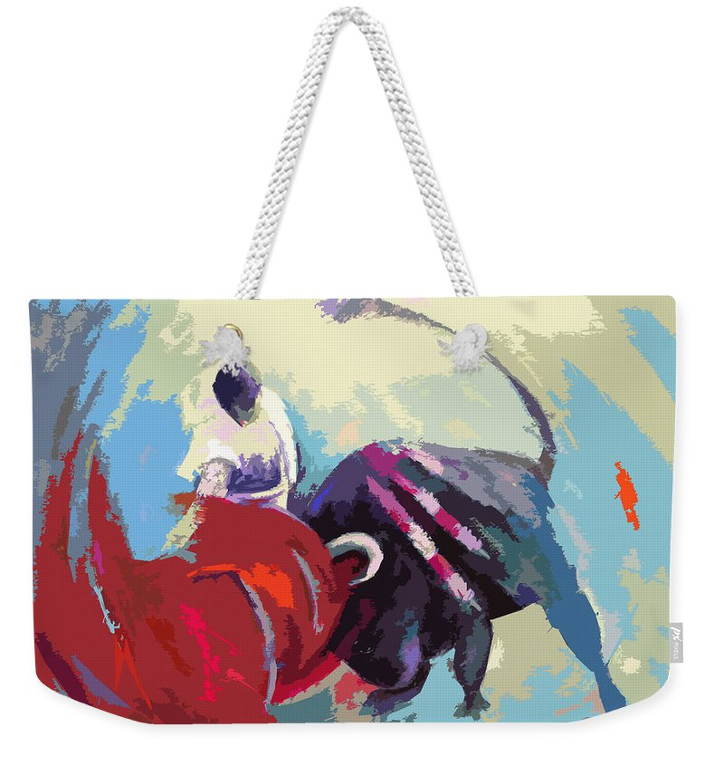 Animals Weekender Tote Bag featuring the painting Toroscape 33 by Miki De Goodaboom