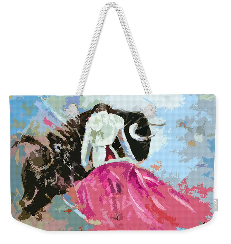Animals Weekender Tote Bag featuring the painting Toroscape 34 by Miki De Goodaboom
