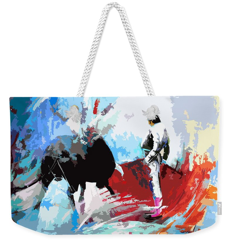 Animals Weekender Tote Bag featuring the painting Toroscape 35 by Miki De Goodaboom