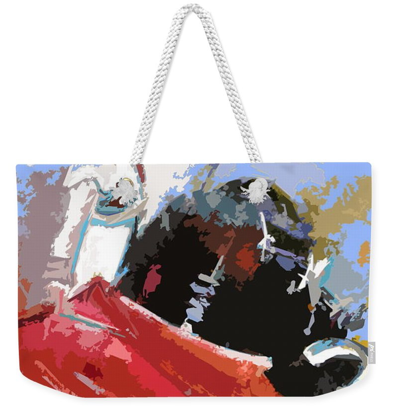 Animals Weekender Tote Bag featuring the painting Toroscape 36 by Miki De Goodaboom