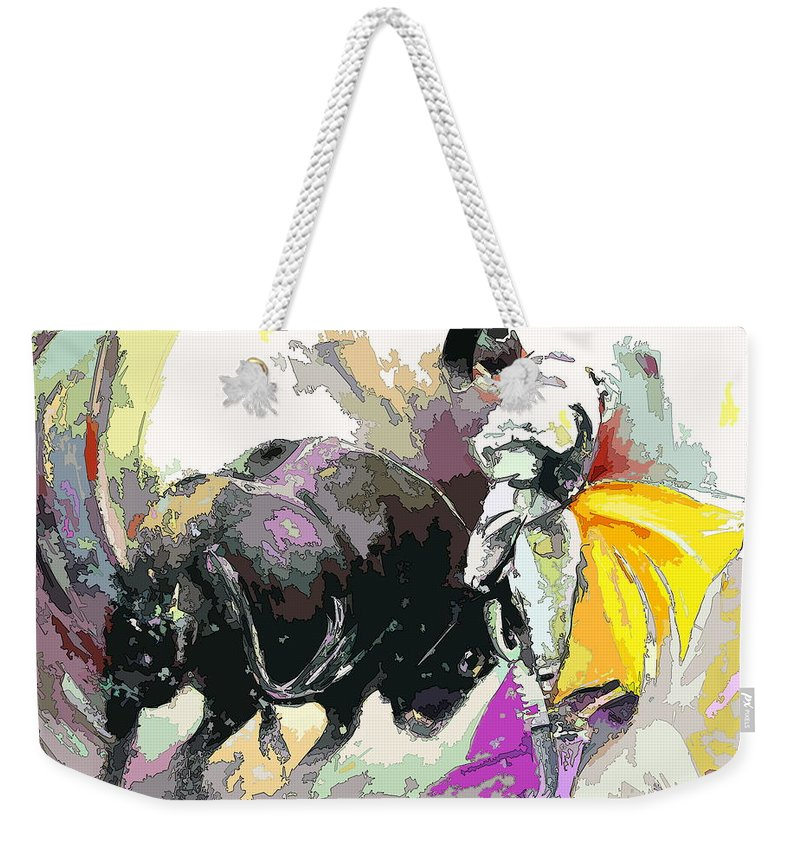 Animals Weekender Tote Bag featuring the painting Toroscape 39 by Miki De Goodaboom