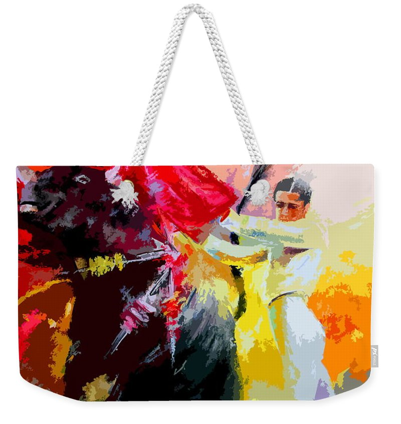 Animals Weekender Tote Bag featuring the painting Toroscape 41 by Miki De Goodaboom