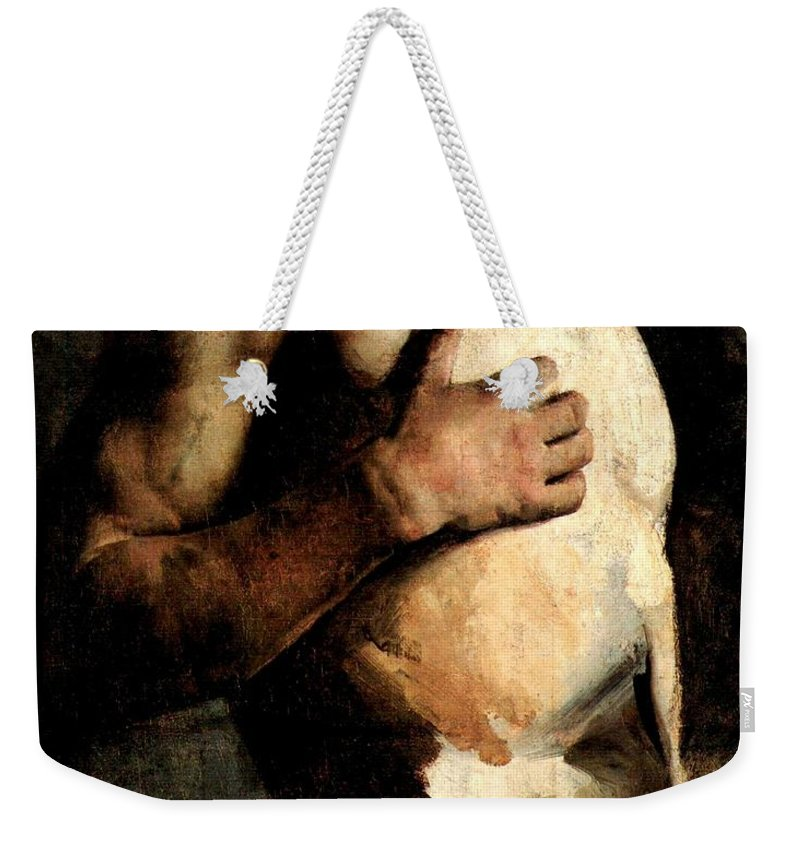 Torso Study No. 2 Weekender Tote Bag featuring the painting Torso Study by Rojas Poleo