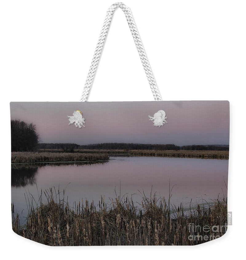 Light Weekender Tote Bag featuring the photograph Total Peace And Calm by Deborah Benoit
