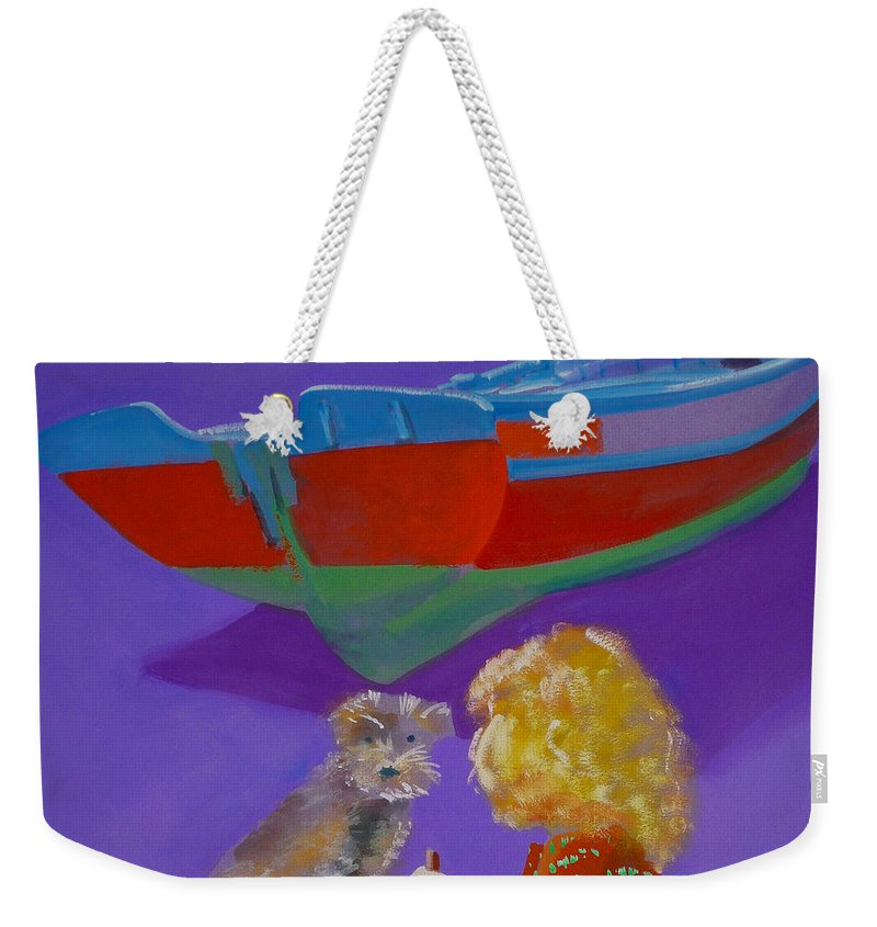 Blonde Weekender Tote Bag featuring the painting Toto by Charles Stuart