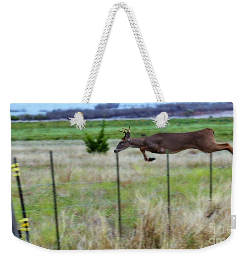 Landscape.unique.modern Wall Art.printed On Acrylic.metal Weekender Tote Bag featuring the photograph Touch Down by Jeff Downs