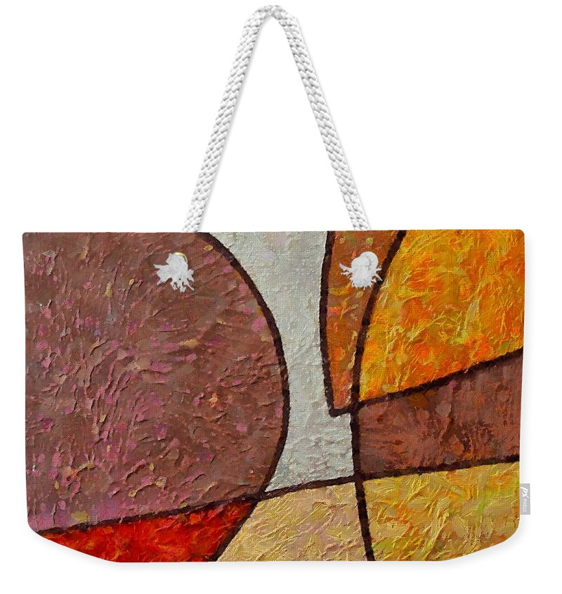 Mixed Media Weekender Tote Bag featuring the mixed media Touch by Dragica Micki Fortuna