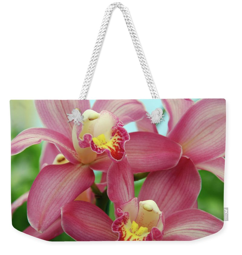 Orchids Weekender Tote Bag featuring the photograph Touch Me by Susanne Van Hulst