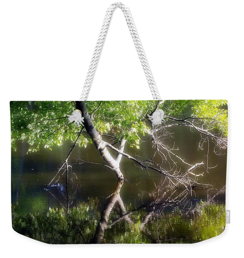 2d Weekender Tote Bag featuring the photograph Touch Of Silence by Brian Wallace