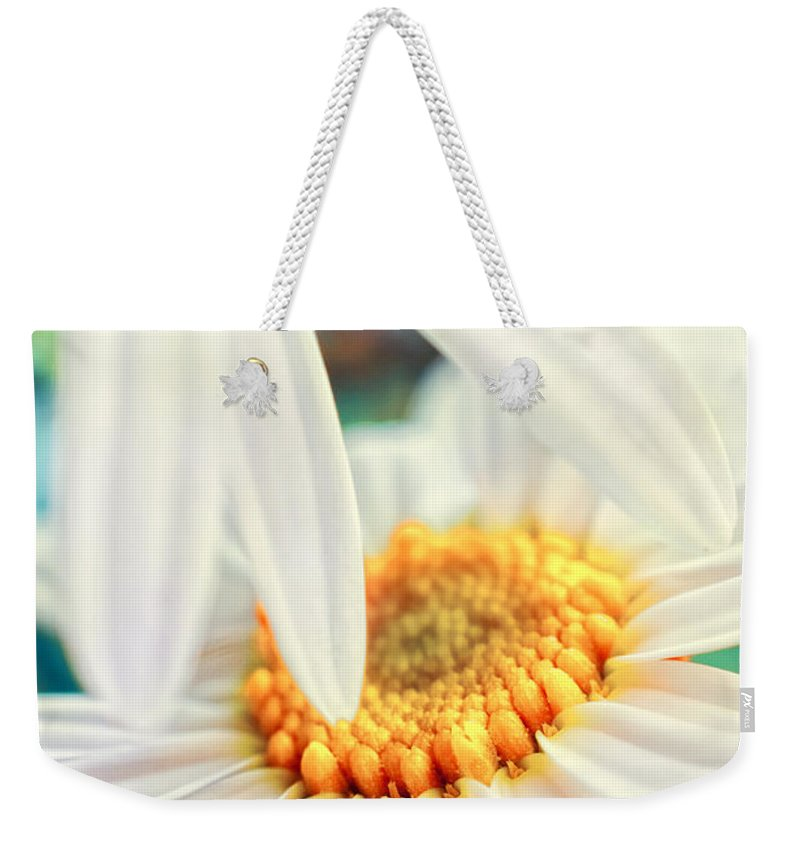 Flowers Weekender Tote Bag featuring the photograph Touch by Silvia Ganora