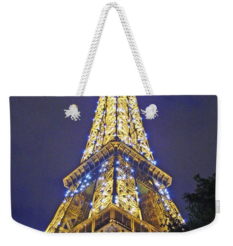 Eiffel Tower Paris France Weekender Tote Bag featuring the photograph Tour Eiffel 2007 by Joanne Smoley