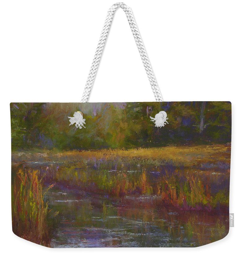 Landscapes Weekender Tote Bag featuring the painting Towards Ticonderoga by Susan Williamson