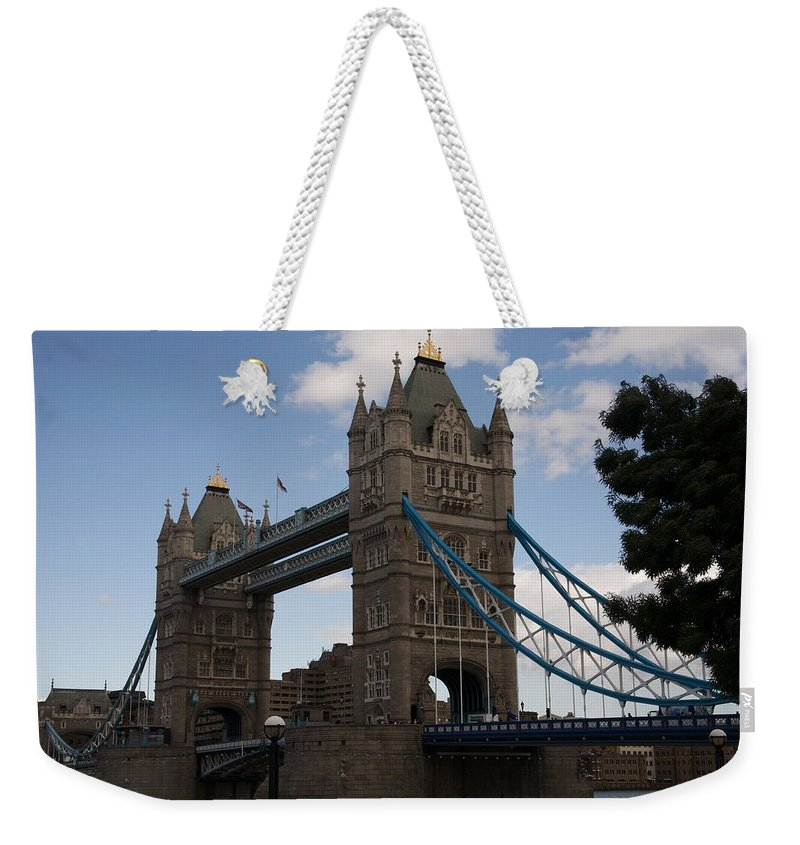 Towers Weekender Tote Bag featuring the photograph Tower Bridge London by Christopher Rowlands