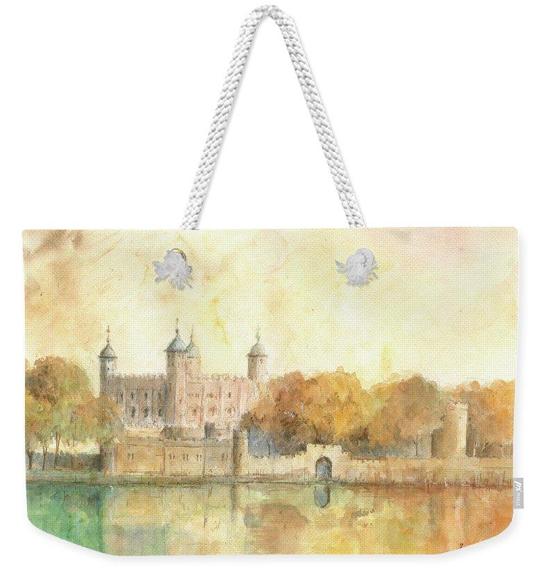 Tower Of London Weekender Tote Bags