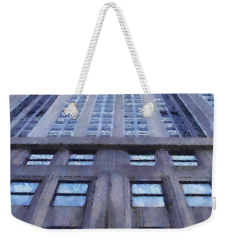 Empire State Building Weekender Tote Bag featuring the painting Tower Of Steel And Stone by Jeffrey Kolker