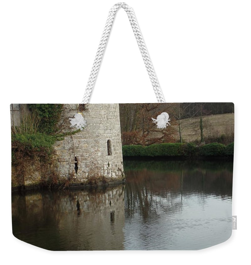 Castle Weekender Tote Bag featuring the photograph Tower Reflection by Gail Schmiedlin