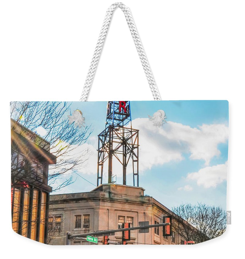 Tower Weekender Tote Bag featuring the photograph Tower Theater - Upper Darby Pa by Bill Cannon