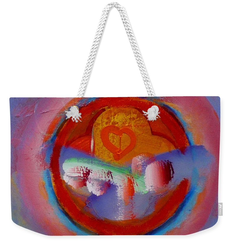 Logo Weekender Tote Bag featuring the painting Towers In The Mist by Charles Stuart