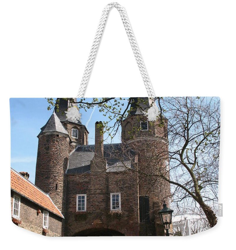 Town Gate Weekender Tote Bag featuring the photograph Town Gate - Delft by Christiane Schulze Art And Photography