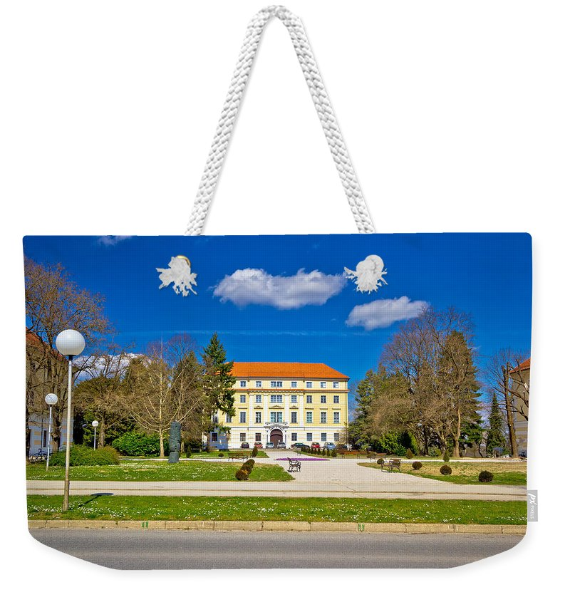 Ludbreg Weekender Tote Bag featuring the photograph Town Of Ludbreg Square View by Brch Photography