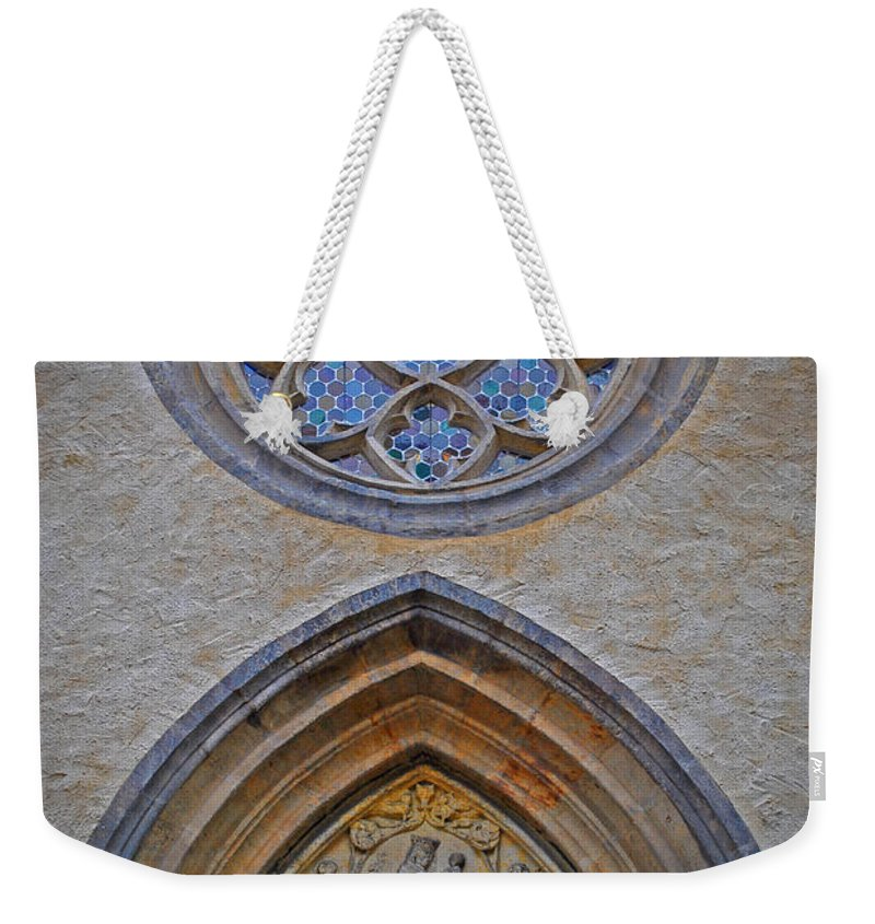 Wittenberg Weekender Tote Bag featuring the photograph Town Parish Entrance by Jost Houk