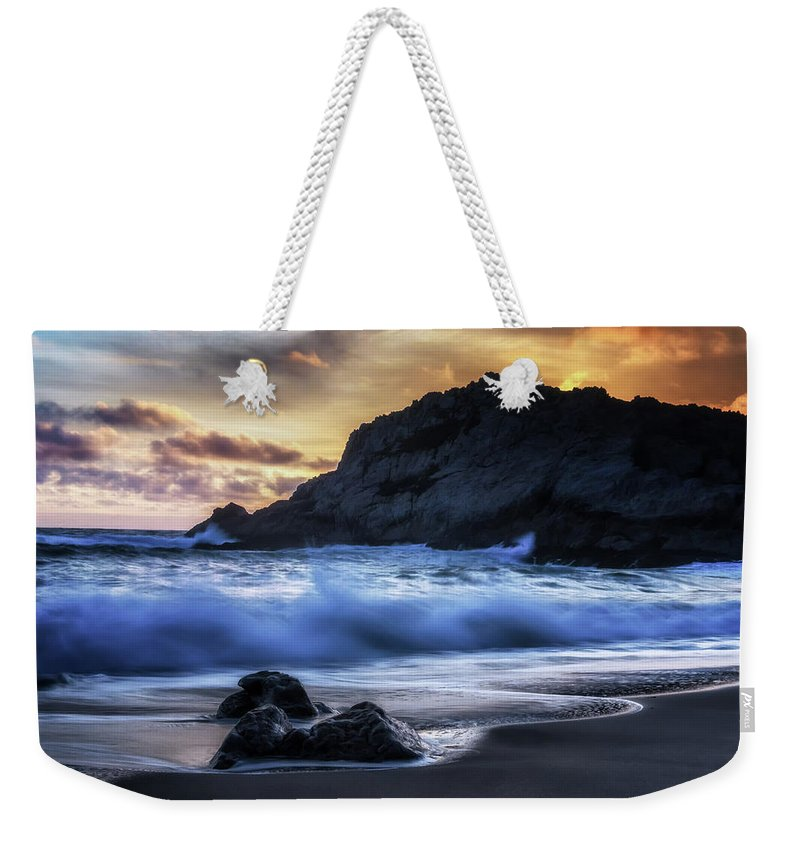 California Weekender Tote Bag featuring the photograph Traces by Marnie Patchett