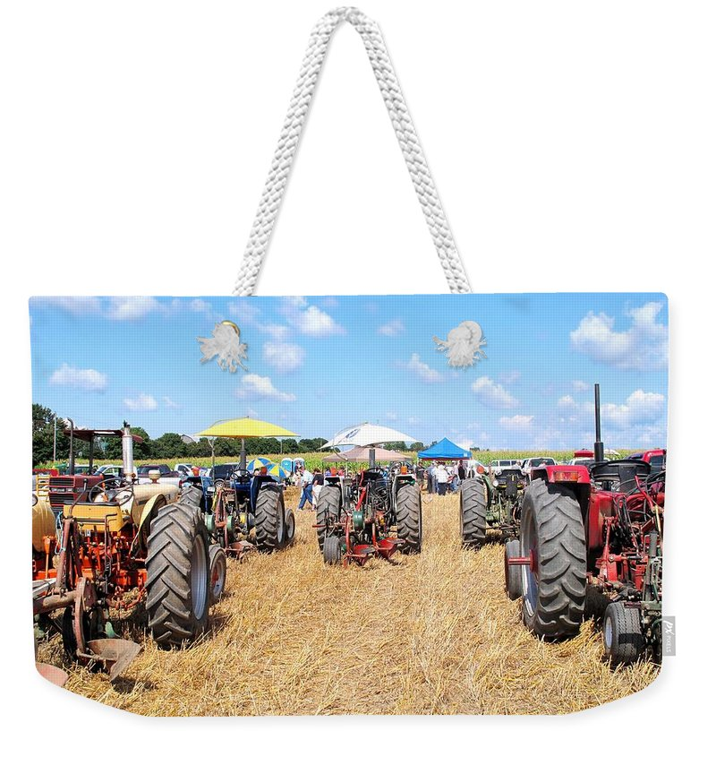 Tractors Weekender Tote Bag featuring the photograph Tractor City by Ian MacDonald