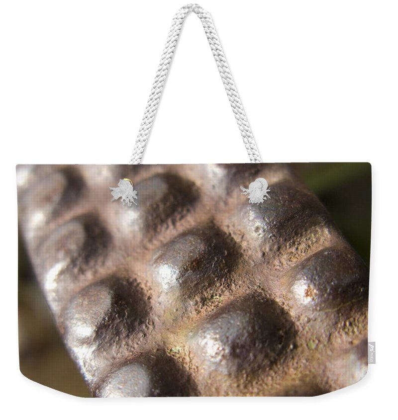Tractor Weekender Tote Bag featuring the photograph Tractor Traction by Jeffery Ball