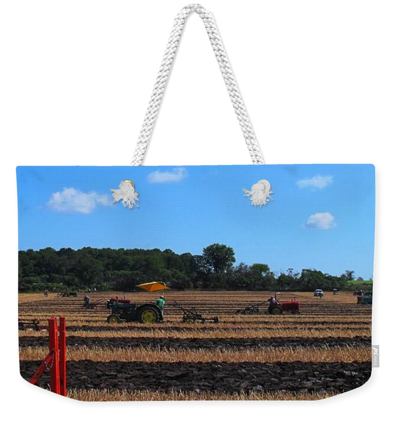 Tractors Weekender Tote Bag featuring the photograph Tractors Competing by Ian MacDonald