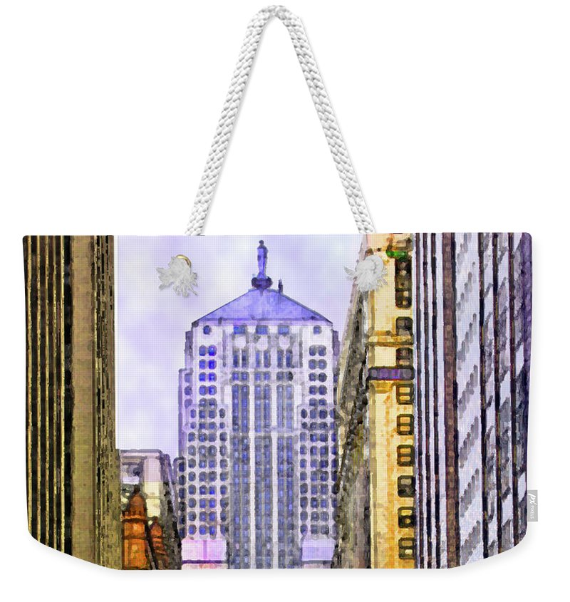 Trading Places Weekender Tote Bag featuring the digital art Trading Places by John Beck
