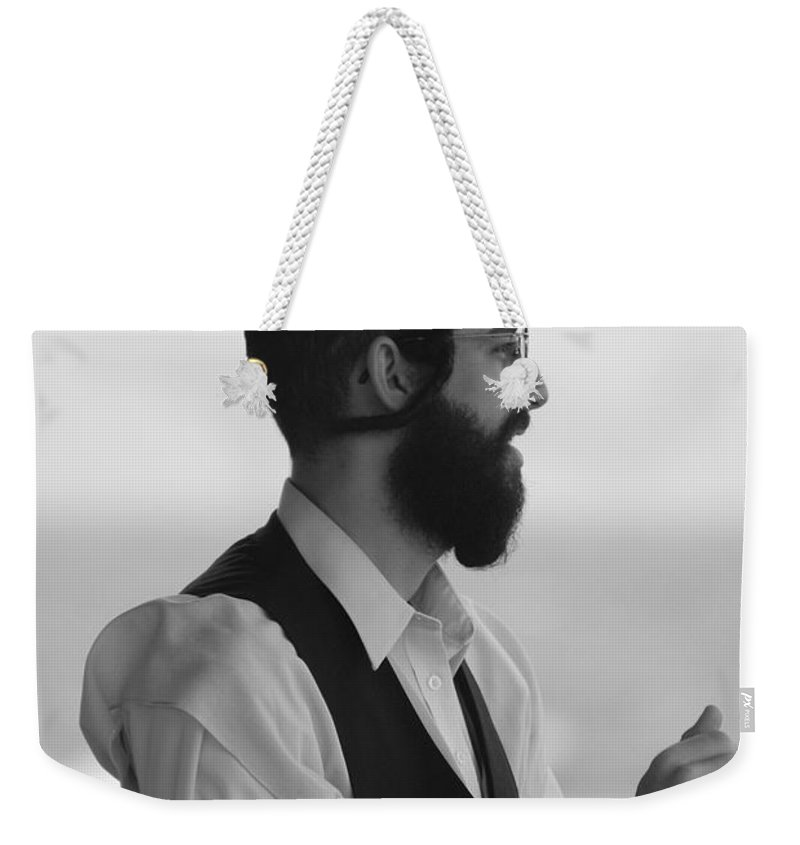 Black And White Weekender Tote Bag featuring the photograph Tradition by Rob Hans