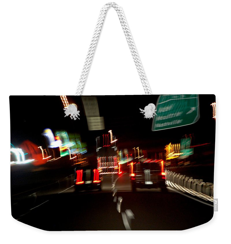 Cars Weekender Tote Bag featuring the photograph Traffic by Robert Meanor