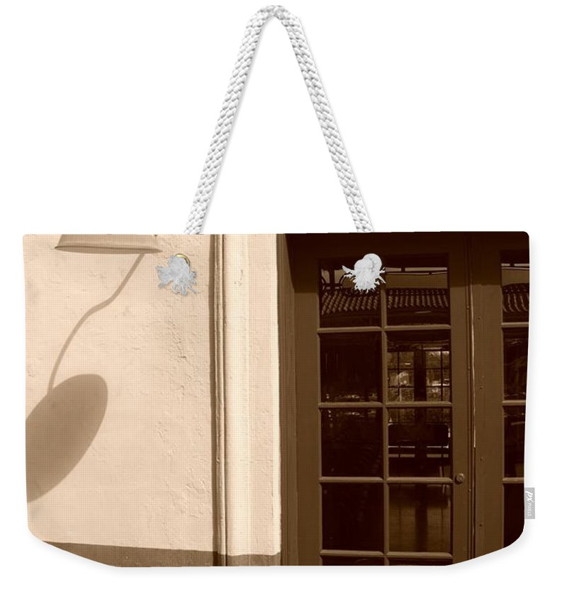 Sepia Weekender Tote Bag featuring the photograph Train Station Of The 40s by Rob Hans