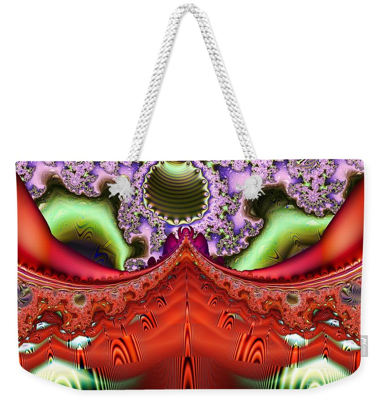 Ink Weekender Tote Bag featuring the digital art Trane by Ron Bissett