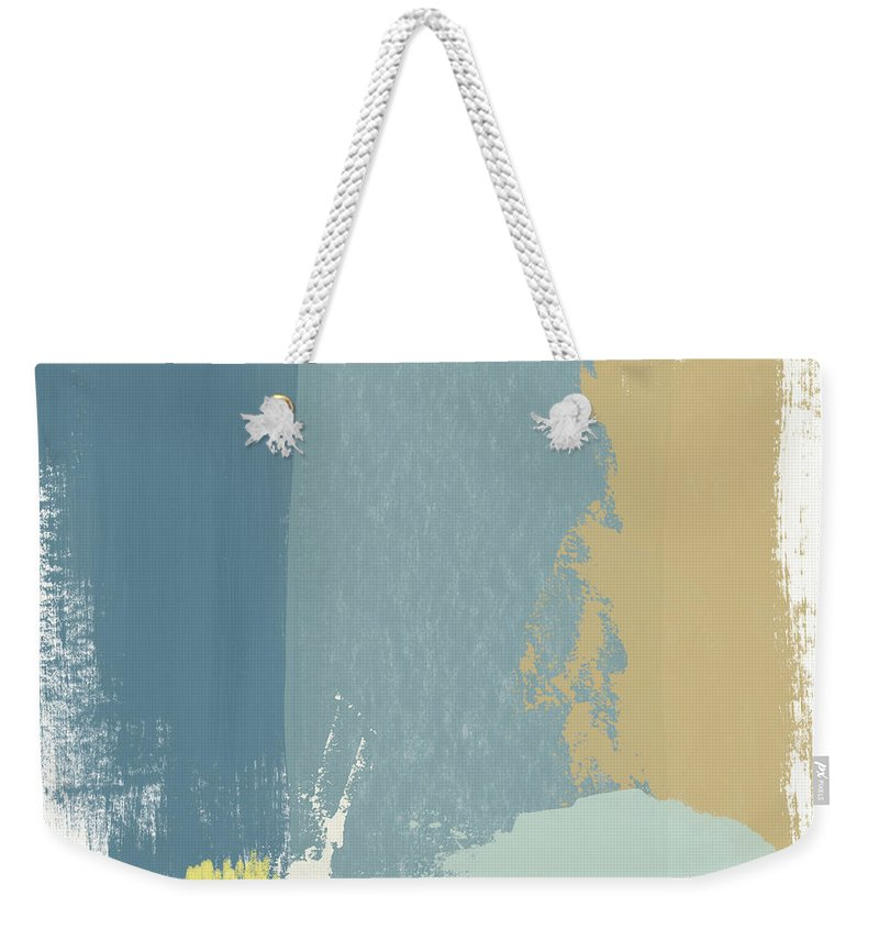 Abstract Weekender Tote Bag featuring the mixed media Tranquil Abstract 1- Art By Linda Woods by Linda Woods