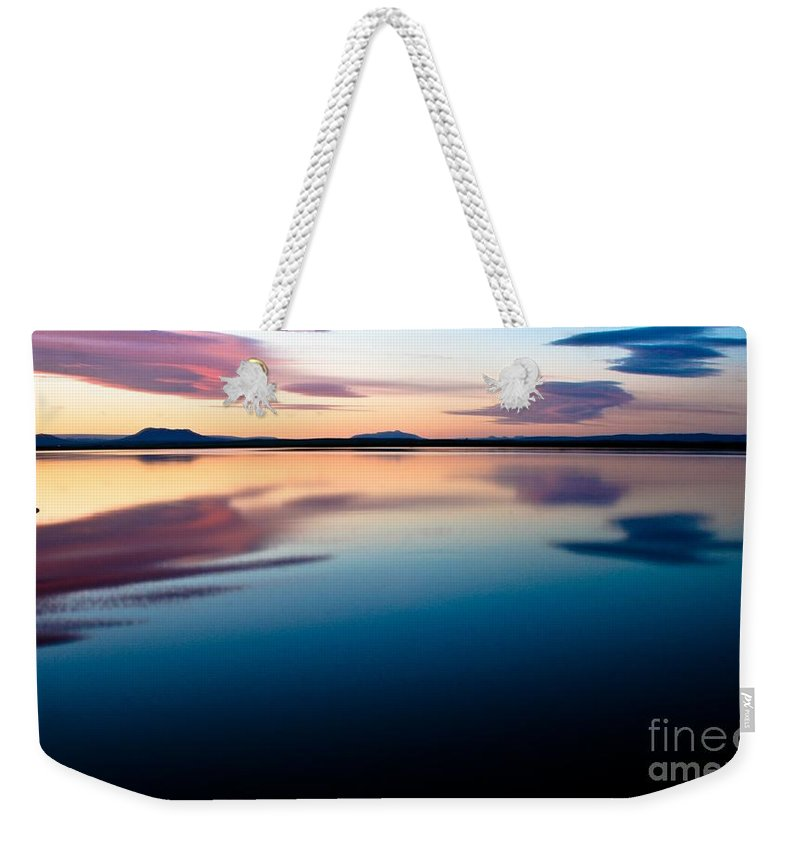 Tranquil Weekender Tote Bag featuring the photograph Tranquil by Agusta Gudrun Olafsdottir