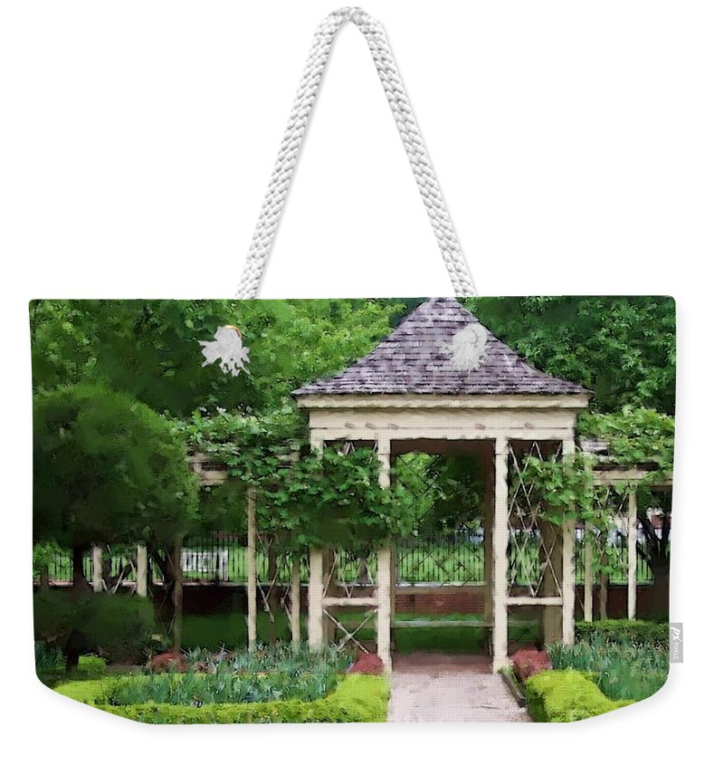 Garden Weekender Tote Bag featuring the photograph Tranquil by Debbi Granruth