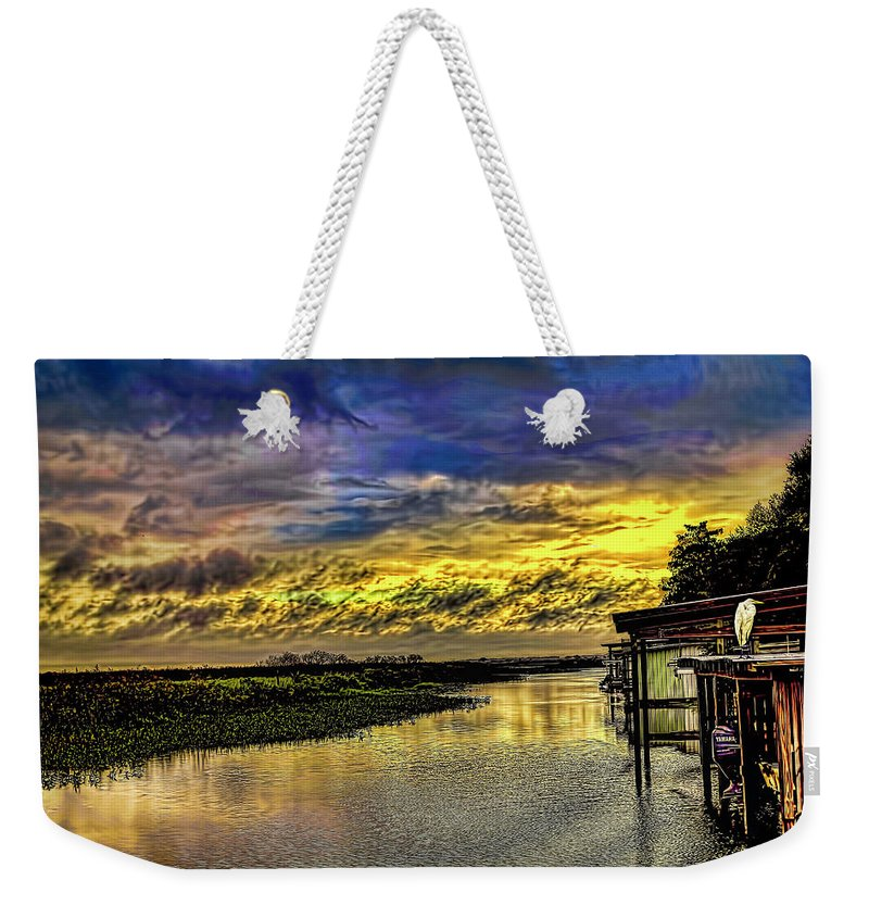 Florida Weekender Tote Bag featuring the photograph Tranquil Morning by Rogermike Wilson