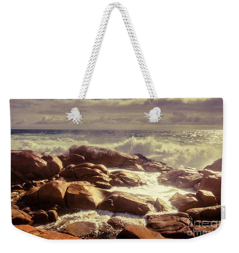 Tranquil Weekender Tote Bag featuring the photograph Tranquil Ocean Views by Jorgo Photography - Wall Art Gallery