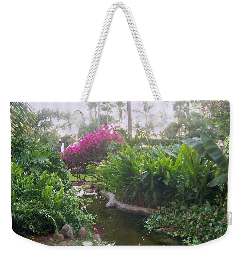 Photo Weekender Tote Bag featuring the pyrography Tranquility by George Pasini