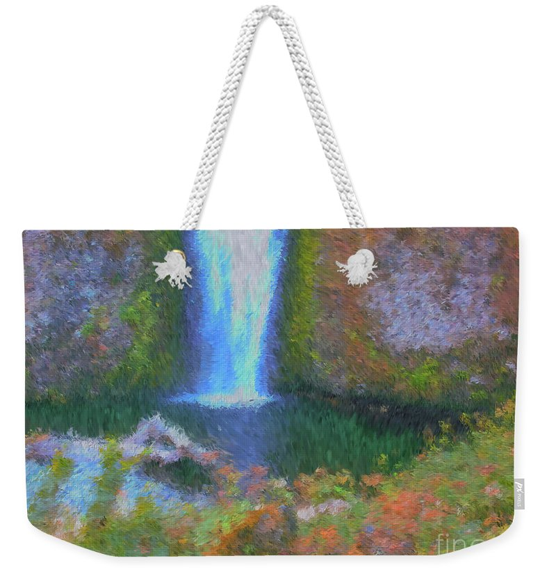 Tranquility Weekender Tote Bag featuring the painting Tranquility by Methune Hively