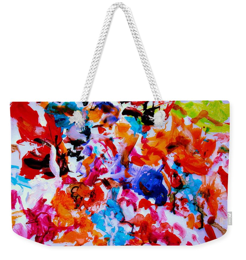Abstract Weekender Tote Bag featuring the painting Tranquility by Natalie Holland